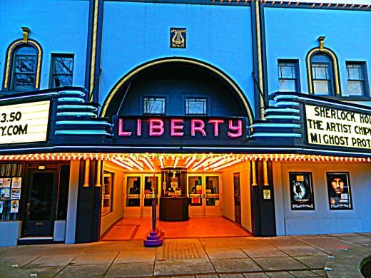 Movie land in a small town main street...Camas, Washington