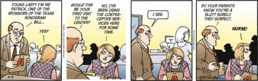 Doonesbury Strip 3-13-12 CENSORED BY DETROIT FREE PRESS!!