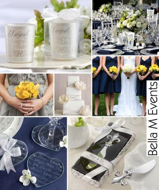 Marine Wedding Inspiration Navy Blue Yellow vote upvote downshareprint