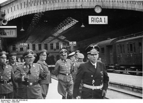 Waffen-SS leaders arrive in Riga. 1944.