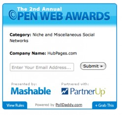 HubPages loves to win awards, but first we have to get nominated!