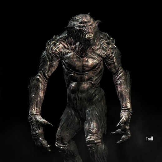 The trolls in Skyrim are one of the most difficult opponents to fight in the game.