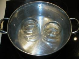 Sterilizing Canning Jars - bringing them to a boil.