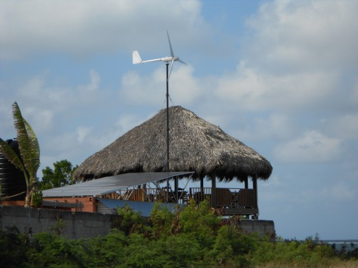 Chill Out Hut's Solar Panel and Wind Turbine System - Jamaica