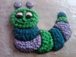 caterpillar decorated.