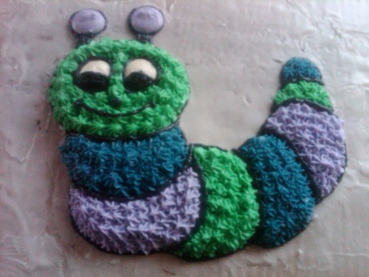 caterpillar decorated.
