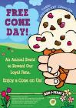 Free Cone Day - April! YEAH!!!!