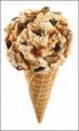 Heath Bar Crunch on Waffle Cone. Yummy!!