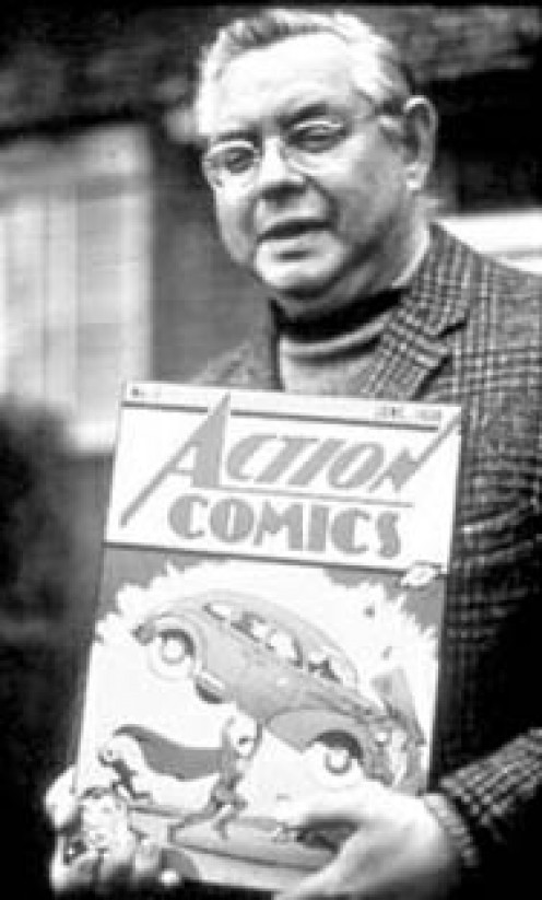 JOE SHUSTER, CO-CREATOR OF SUPERMAN.