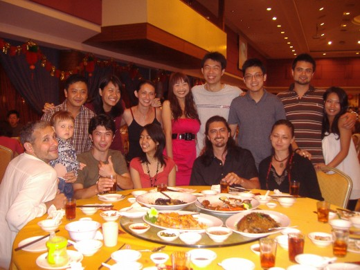 The youngsters' table, CNY dinner