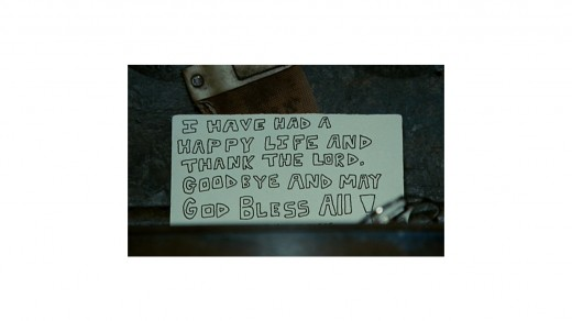 The sign left by McCandless