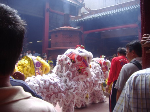 Lion Dance, during the 15 days of New Year.