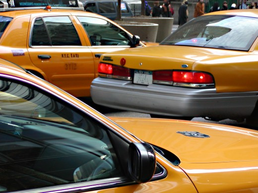 NYC taxi's. © Eric Heifetz