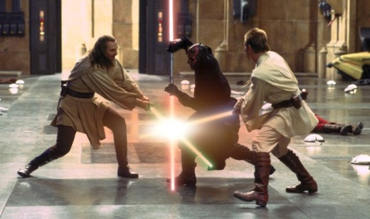 "Come witness arguably one of the most boring ""Star Wars"" fight scenes of all time!"