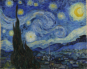 The Starry Night Vincent Van Gogh, Artist 1889