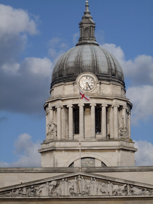 Close-up of the dome, Council House Nottingham