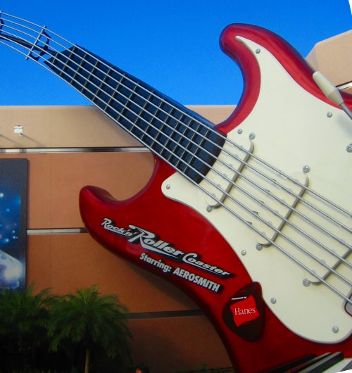 Rock 'n' Rollercoaster starring Aerosmith, at Disney's Hollywood Studios.