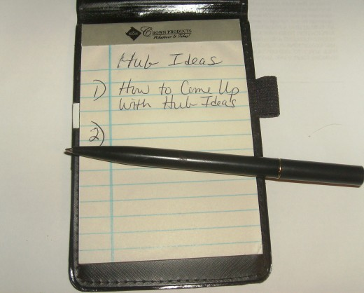 Write down ideas for articles.