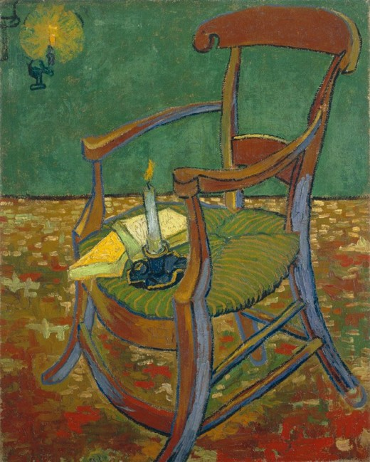 Detail of a chair by Vincent Van Gogh. Image in Public Domain.
