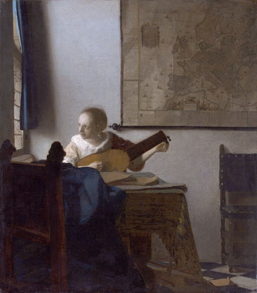 """Jan Vermeer's """"Woman with a Lute Near a Window"""""""