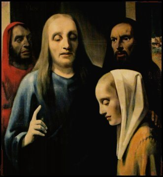 """""""Christ with the Adulteress"""" by van Meegeren was found in the possession of Nazi Herman Goring"""