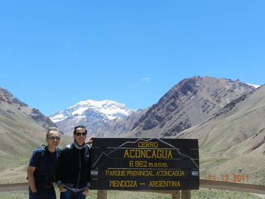 Aconcagua Mountain, 6,962 mts, in the National Aconcagua Park, near Mendoza, Argentina, close to the Chilean border.