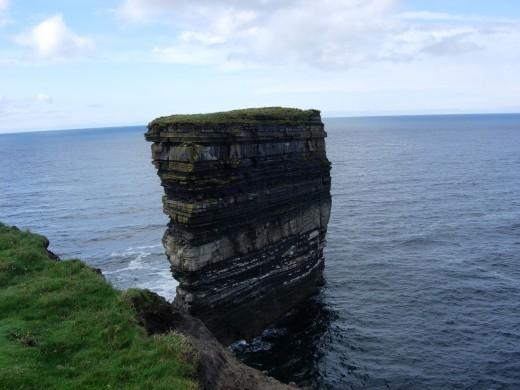Sea stack. Ballycastle Co. mayo