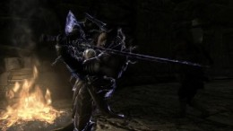 Screen cap from the teaser trailer for The Black Blade, a Skyrim Machinima in production.