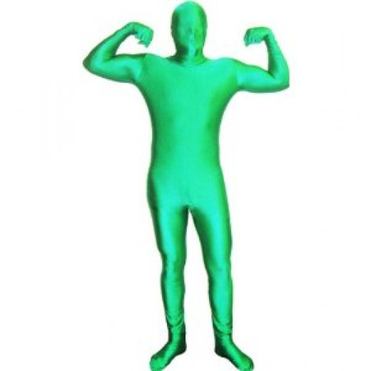 green man morphsuit