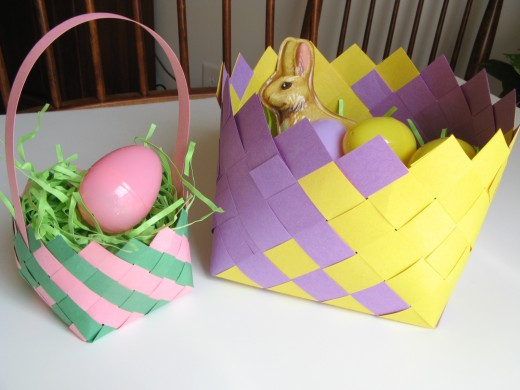 How To Make A Woven Easter Basket : Freebies for crafters easter ideas