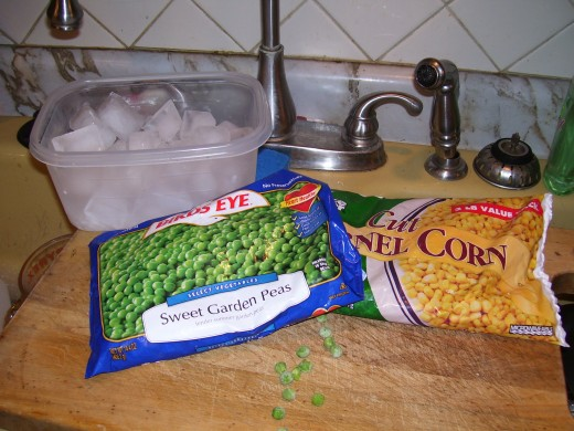 peas and corn are my favorite frozen veggies to keep on hand