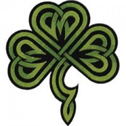 Celtic shamrock insignia