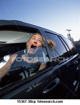 Getting your hair caught in a car Door!