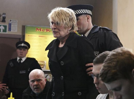 when the police arrives, Shirley is angered that she is considered a suspect