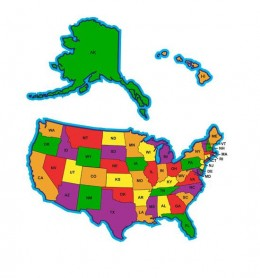 The US state names  can either be abbreviated in standard abbreviation format or in US Postal Service 2-letter format.