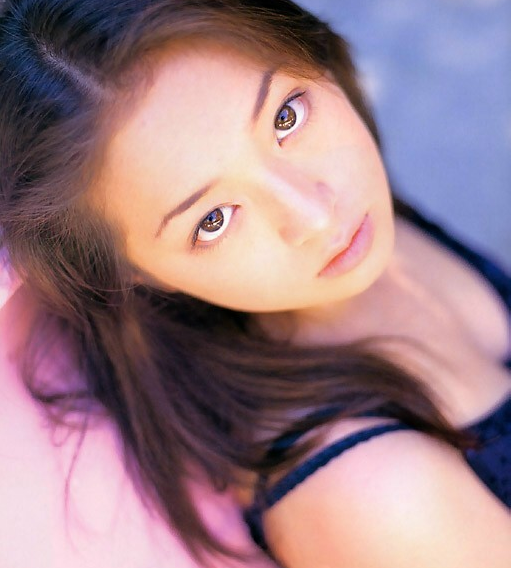 """Ayu modeling for a """"gravure"""" magazine in the early 90s."""