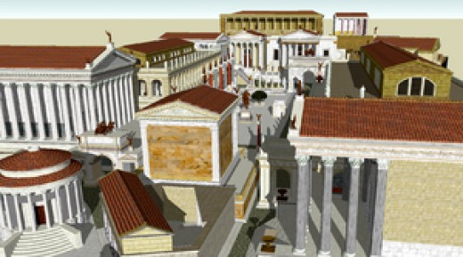 A Model of how the Roman Forum may have looked in Rome's heyday.