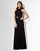 Lauren by Ralph Lauren belted crossed neckline prom dress