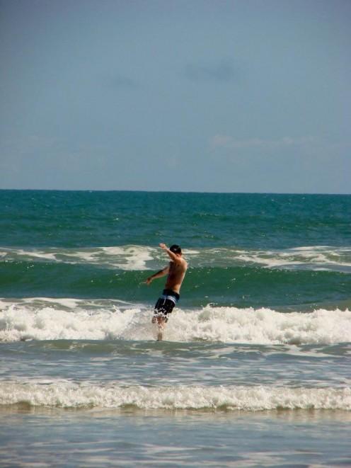 Waves off Daytona Beach, Florida