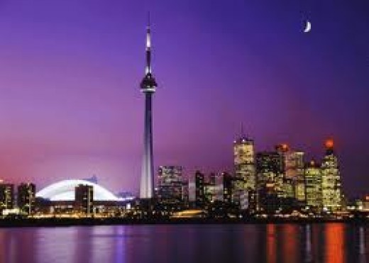 The famous CN Tower in Toronto, Canada