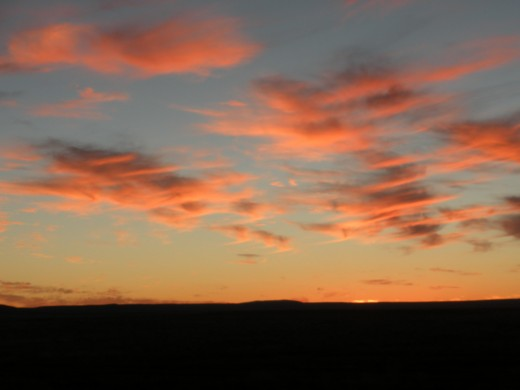 It's the Western sky that captures the imagination, as one rolls across the Idaho high plain.