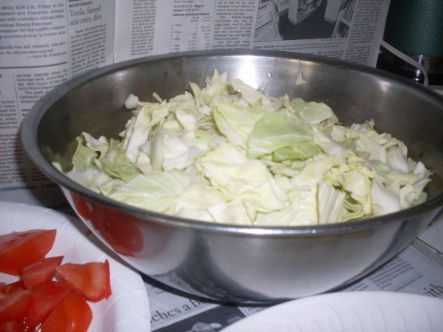 Chopped Cabbage
