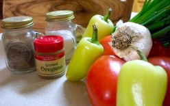 Ingredients for fresh homemade salsa.