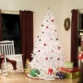 A Pre Lit Clear Light 7.5 Foot Winter Park Artificial Christmas Tree