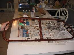Working on restoring inside window frames