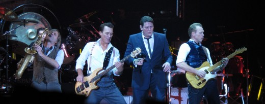 Spandau Ballet, one of the most popular bands of the 1980's performing on their World Tour in Liverpool,  November 29, 2009.England,