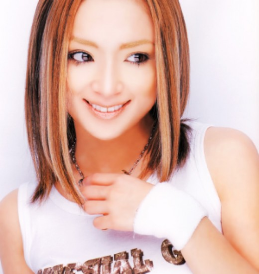"""Ayu posing in the June, 2002 issue of """"CD HITS"""" Magazine."""