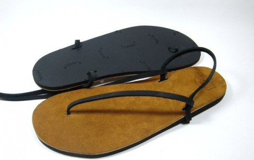 These are like the sandals I began running in. Mine were much more primitive; just the rubber with a hemp string.