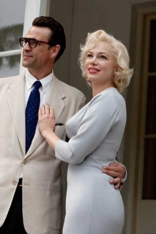 "Scott and Williams smiled for the camera in ""My Week With Marilyn."""