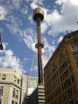 Sydney Australia Street Photography, Sydney Tower. From the Australia Pictures Series by Claudia Tello.
